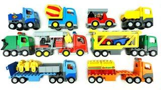 Строительство Блоки полицейский автомобиль, Экскаватор, мусоровозы строить и играть видео для детей