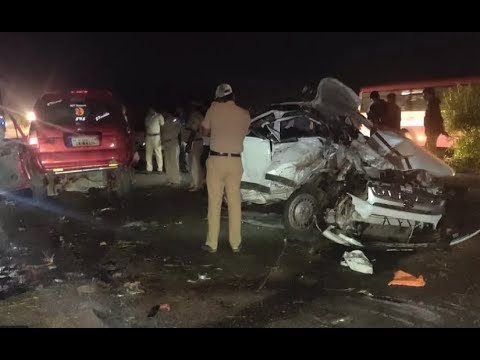 Urdu News- Thirteen killed and five injured in road accident near Tumakuru District Karnataka