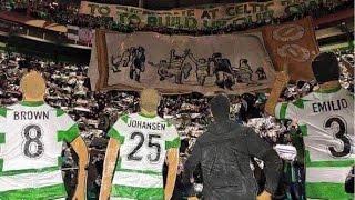 Green Brigade display Celtic vs Inter Milan