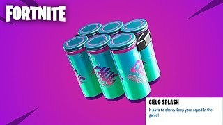 "Fortnite: ""CHUG SPLASH"" Mise à jour Gameplay AVEC GIVEAWAYS - (Fortnite Update)"