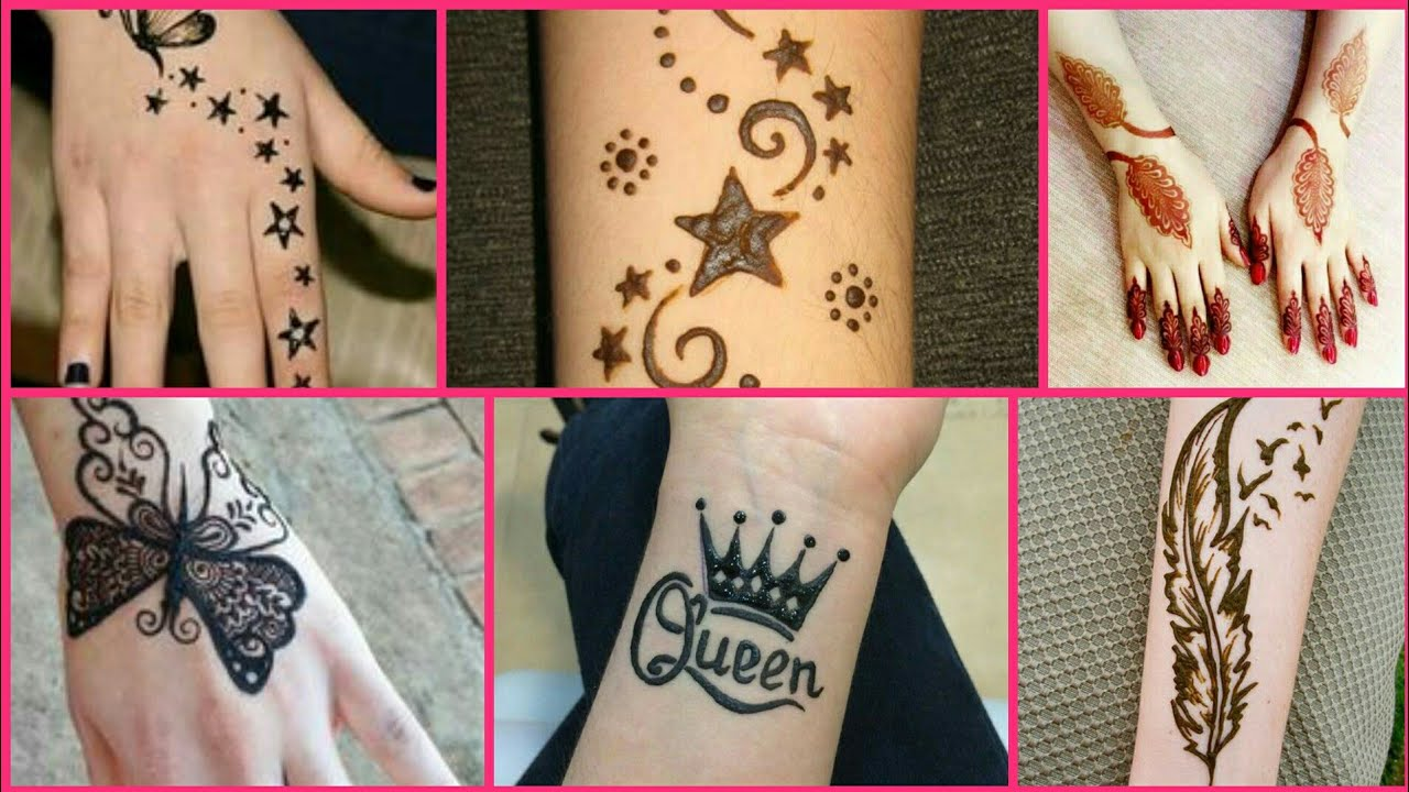 mehndi tattoo designs for girls easy