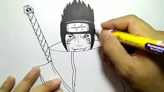 cara menggambarhoshigaki kisame anggota akatsuki / how to draw akatsuki member