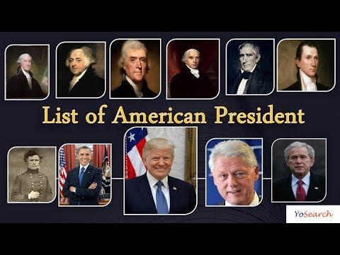 List of US Presidents | American Presidents | Presidents of America | US Presidents List 1789-2017