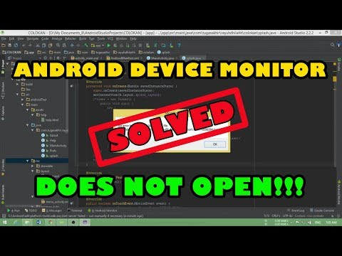 Android Device Monitor Doesn't Open (Solved)