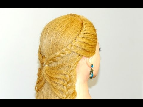 Hairstyle for long hair. Butterfly braid
