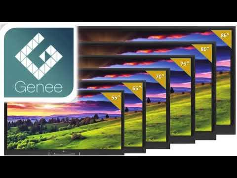 Genee World North America: Interactive Flat Panel Displays