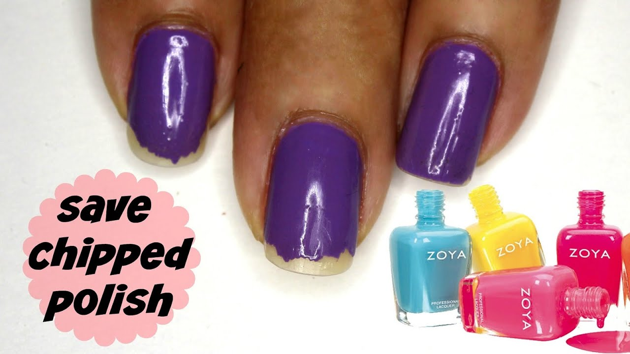 5 Ways To Repair Cracked/Chipped Polish - YouTube