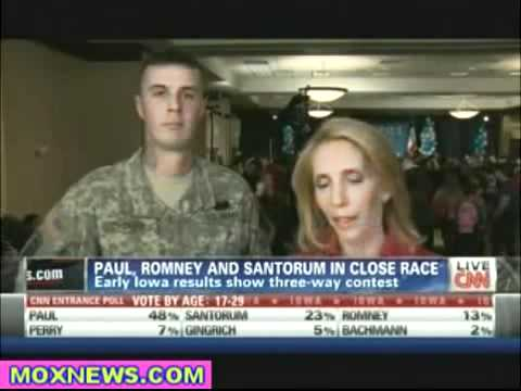 Media Blacked Out U.S Army Ron Paul supporter Cut from in Iowa