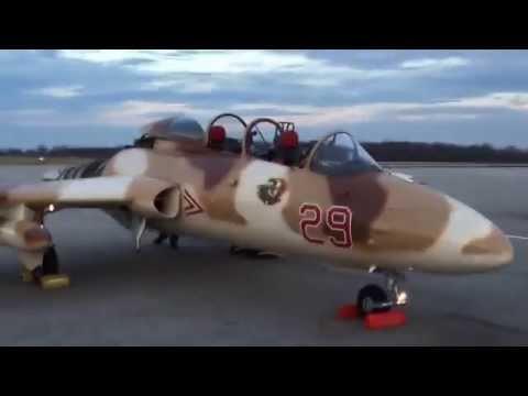 L-29 Delfin/Viper Engine Run Up - Waterloo Warbirds