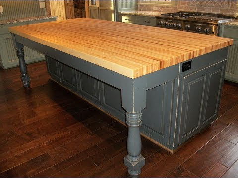 Merveilleux Kitchen Islands With Butcher Block Top