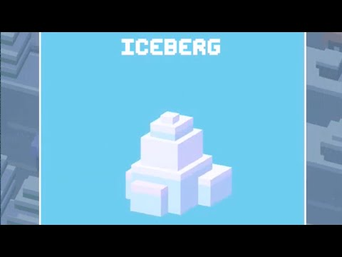 Crossy Road Unlock ICEBERG Secret Character Arctic Secret Gameplay