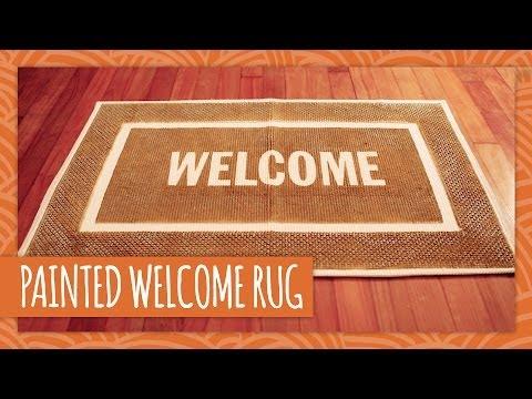 DIY Painted Welcome Rug   HGTV Handmade