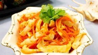 Кальмары по-корейски видео рецепт