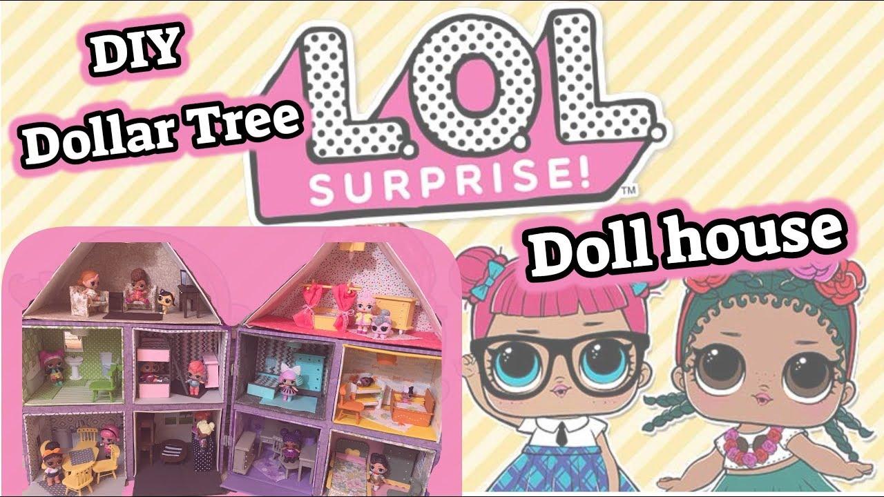 Diy Dollar Tree Lol Surprise Doll House Dollhouse Miniatures Youtube