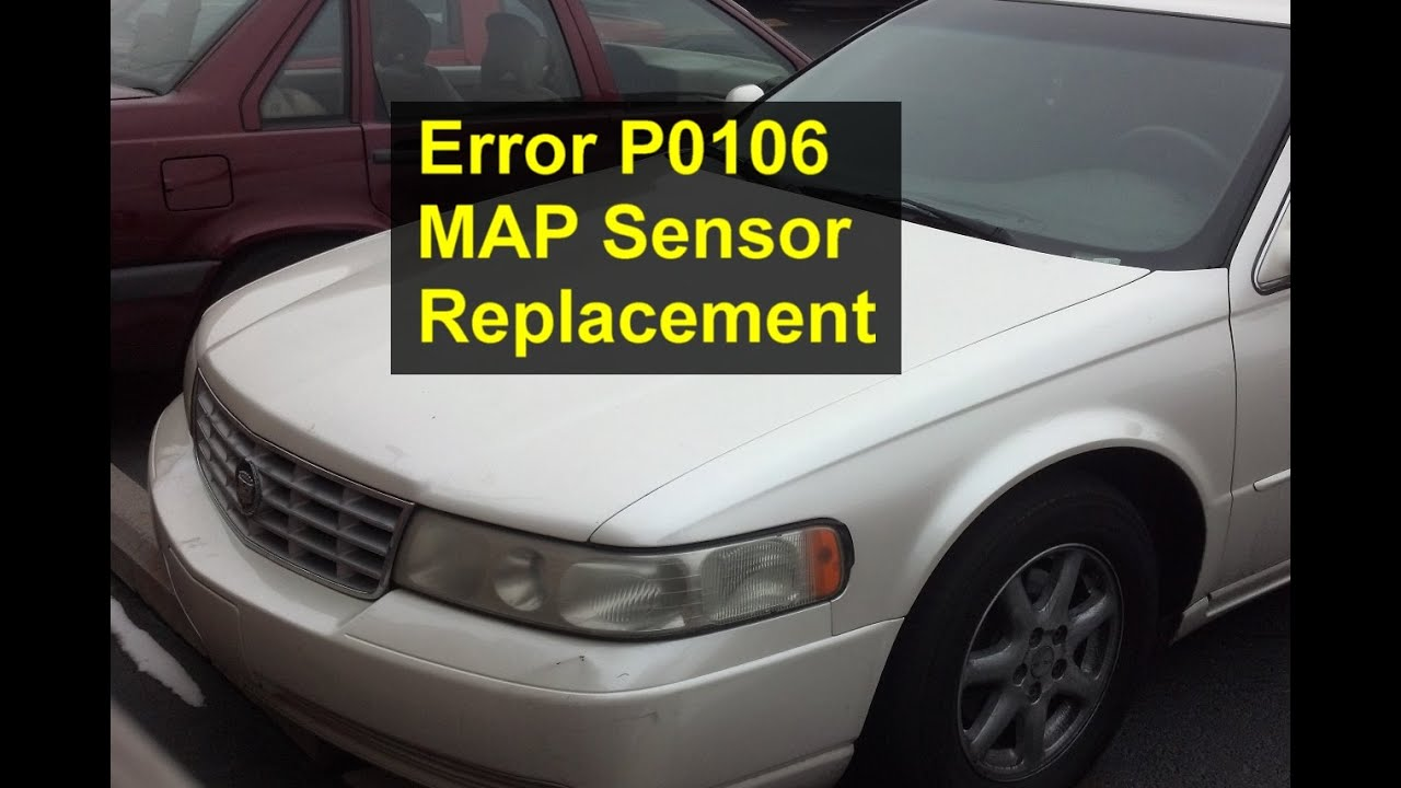 hight resolution of map sensor replacement p0106 cadillac seville votd