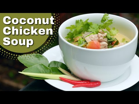 Authentic Thai Coconut Chicken Soup Recipe (Tom Kha Gai)