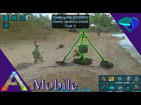 COOKING POT AND FARMING OVERVIEW! Ark: Mobile Beginner's Guide Episode 6