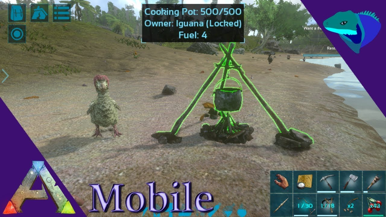 Cooking Pot And Farming Overview Ark Mobile Beginner S Guide Episode 6 Youtube