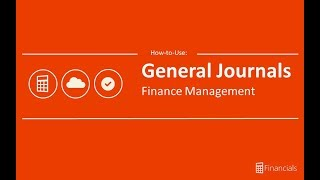 How to use General Journals
