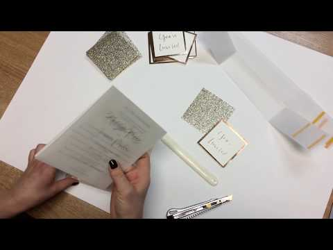 D.I.Y Laser Cut Invitations | How to make your own invitations | DIY pack