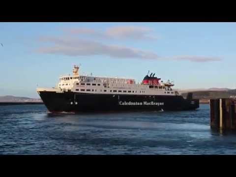MV HEBRIDES ~ Ardrossan Harbour Departure. 3rd. Jan. 2015.