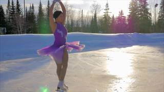 Aperception - BEAUTIFUL outdoor Figure Skating !
