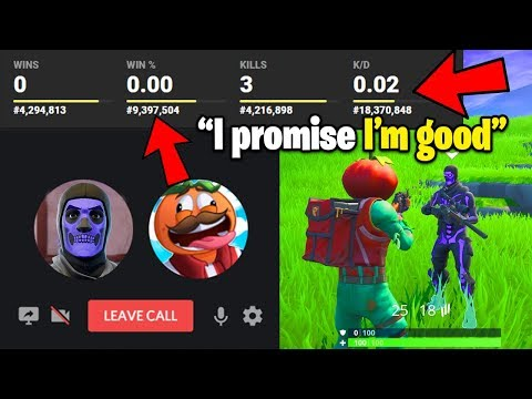 I Tried To Join A Pro Fortnite Team.. With Terrible Stats
