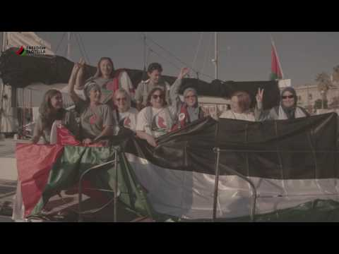 Women's Boat to Gaza 2016 (video with song+)