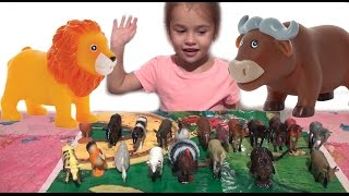 Учим животных. Развивающие видео для самых маленьких. Learn the names of animals