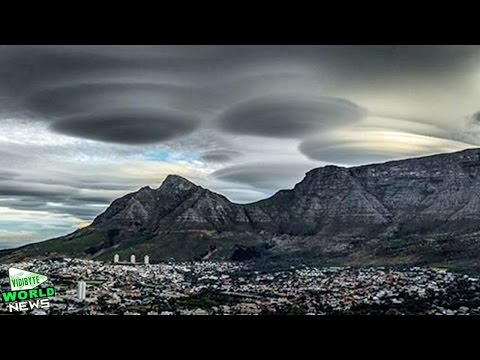 'UFO Clouds' Spotted Over Cape Town Skies || World News