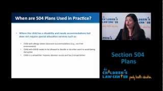 Section 504 of the Rehabilitation Act of 1973: 504 Plans at School