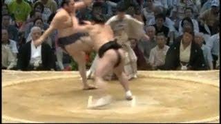 キック師匠何してはるんですか!! sumo tokitenku harumafuji.