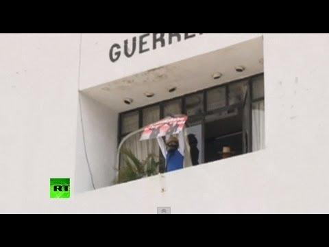 Учителя громят штаб-квартиры политических партий в Мексике