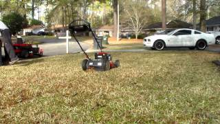 Turd Stole My Yard Sign - Troy Bilt TB 360 Test - Bag, Mulch, Side Discharge