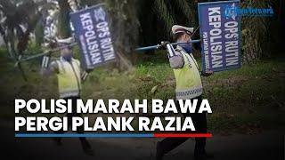 Viral Video Oknum Polisi Marah Bawa Pergi Plang Razia, Cuma Berdua dan Tak Bisa Tunjukan Surat Tugas