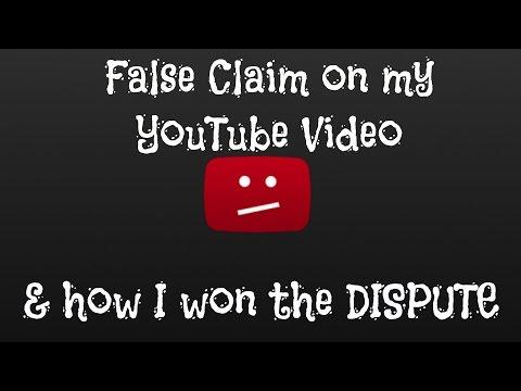 False copyright claim on my video & how i won the dispute