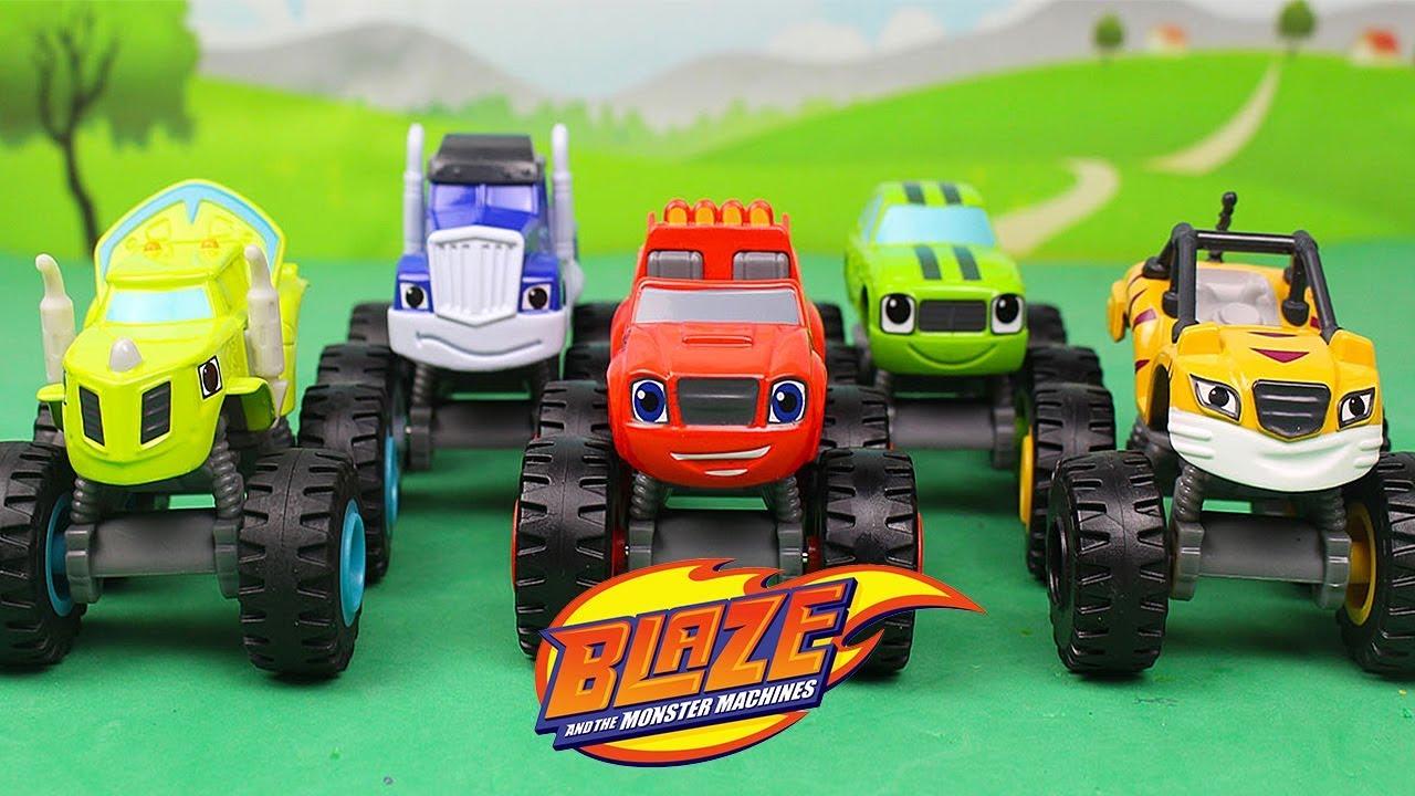 Blaze e le mega macchine unboxing di 5 personaggi for Blaze e le mega macchine youtube
