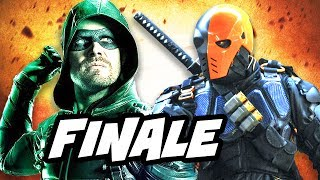 Arrow 5x23 deathstroke finale top 10 and comics easter eggs