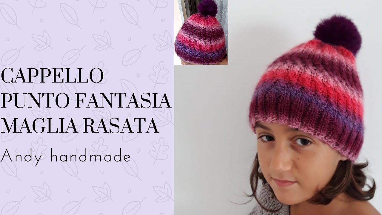 Cappello punto fantasia maglia rasata - YouTube b7f57d7c4f86
