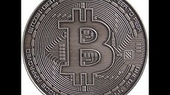 1 oz Antique Silver Bitcoin Commemorative Round