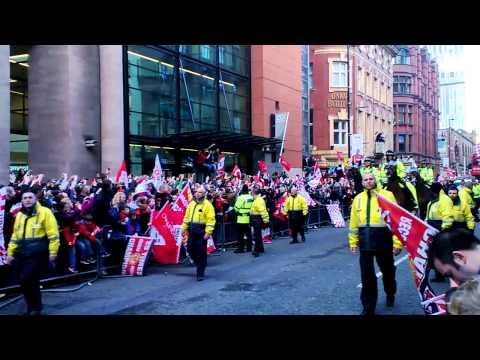 Manchester United celebration champion 20 premier league 2013
