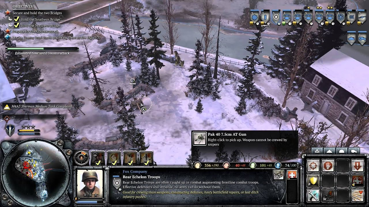 Coh 2 Ardennes Assault Mission 9 Hd Ouren Youtube