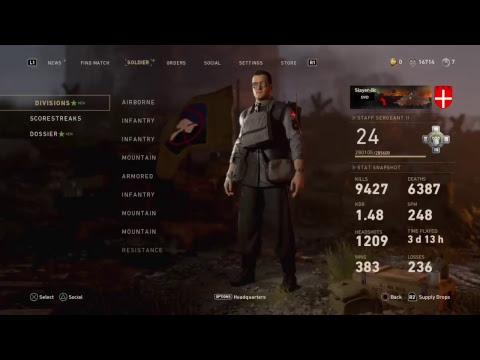 Call of duty WW2 multiplayer. Contracts