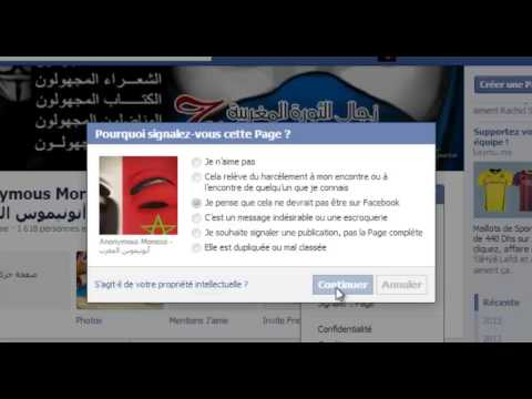 Signaler fake page Anonymous Morocco