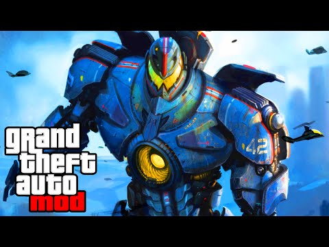 """GIANT ROBOTS IN GTA"" - GTA Mods & Spawn Mod Fun! (GTA IV Modding)"