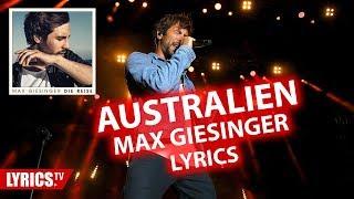 "Australien LYRICS   Max Giesinger   Lyric & Songtext   aus dem Album ""Die Reise"""