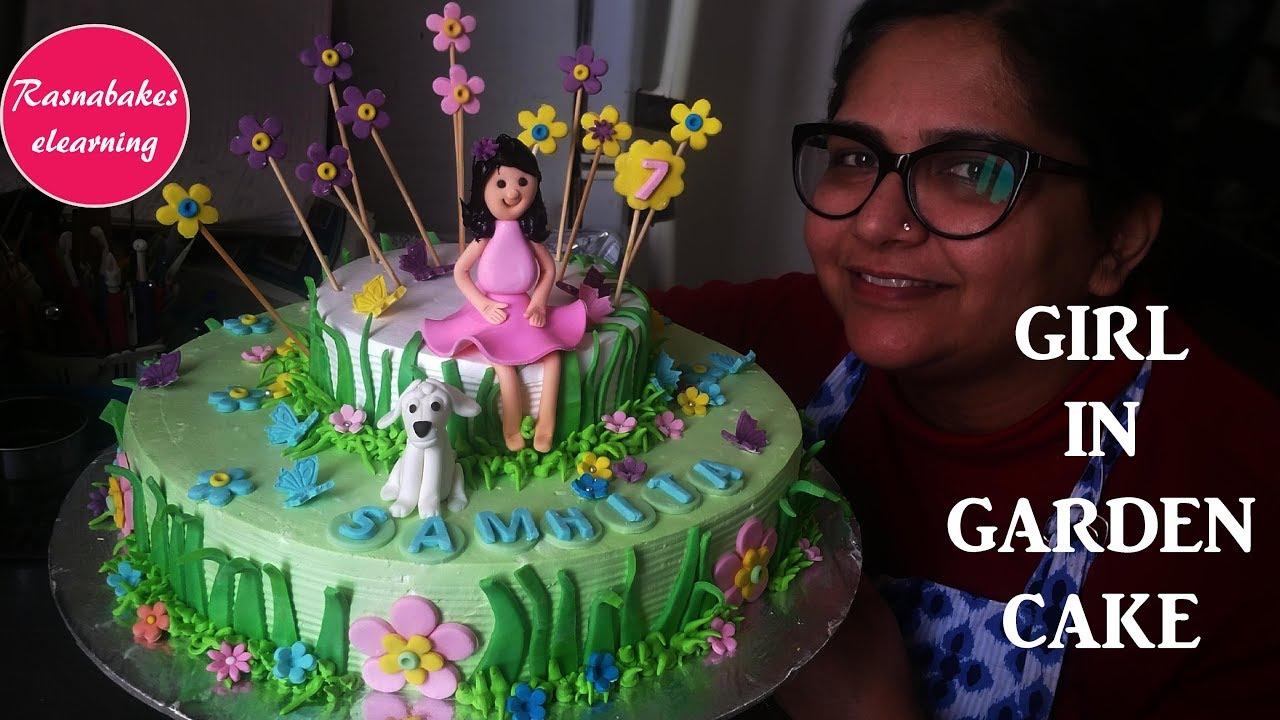 How To Make Girl In Garden Cake Designbirthday Cake For Girls