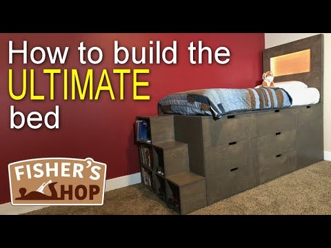 Woodworking: How to build the ULTIMATE bed