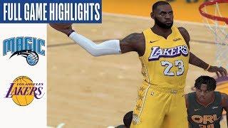 Magic vs Lakers Full Game Highlights! January 15, 2020 NBA Season | NBA 2K20