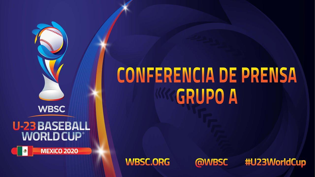 Conferencia de Prensa Grupo A - III Copa Mundial Sub-23 de la WBSC